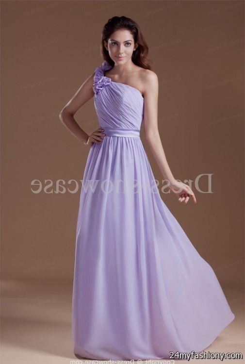 one shoulder lavender prom dress 2016-2017 » B2B Fashion