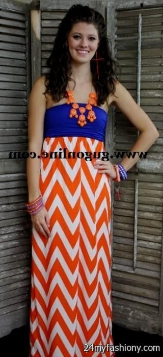 orange and blue chevron dress 2016-2017 » B2B Fashion