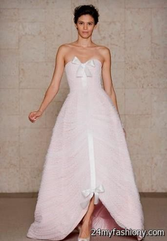 pale pink wedding dress vera wang 2016-2017 » B2B Fashion