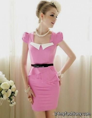 pink summer dresses with sleeves 2016-2017 » B2B Fashion