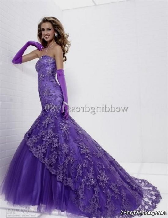 purple lace mermaid dress 2016-2017 » B2B Fashion
