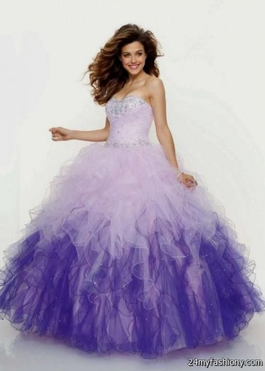 purple ombre quinceanera dress 2016-2017 » B2B Fashion