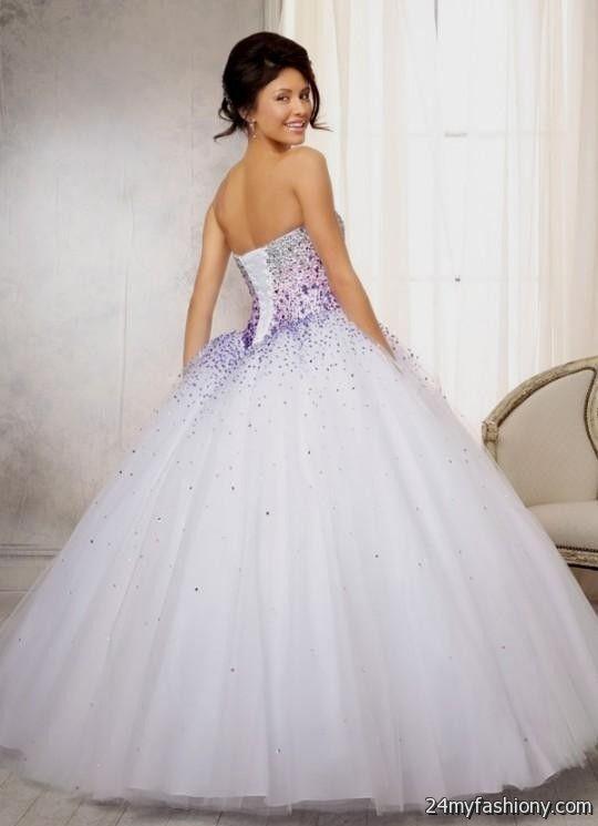 quinceanera dresses white and purple 2016-2017 » B2B Fashion