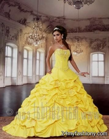 quinceanera dresses yellow and white 2016-2017 » B2B Fashion