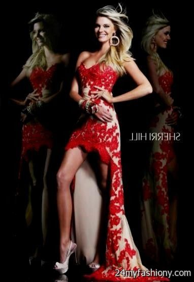 red lace sherri hill prom dresses 2016-2017 » B2B Fashion