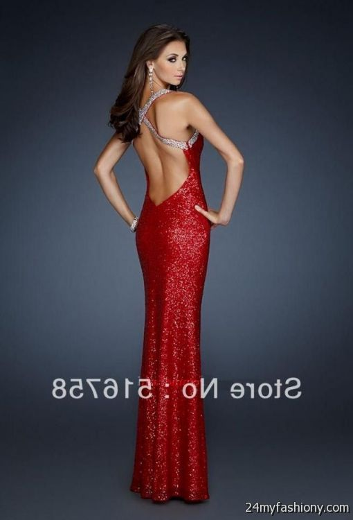 red sequin open back prom dress 2016-2017 » B2B Fashion