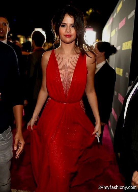 Selena Gomez red dress photoshoot 2016-2017 » B2B Fashion