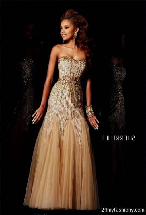 sherri hill prom dresses gold 2016-2017 » B2B Fashion