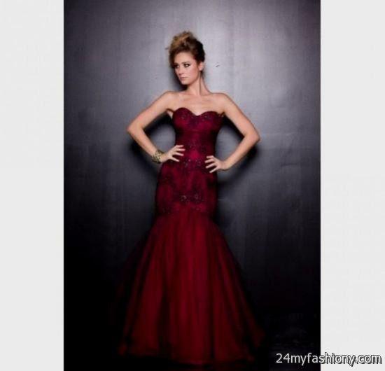 strapless dark red prom dresses 2016-2017 » B2B Fashion