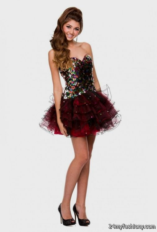 sweet 16 dresses red and black short 2016-2017 » B2B Fashion