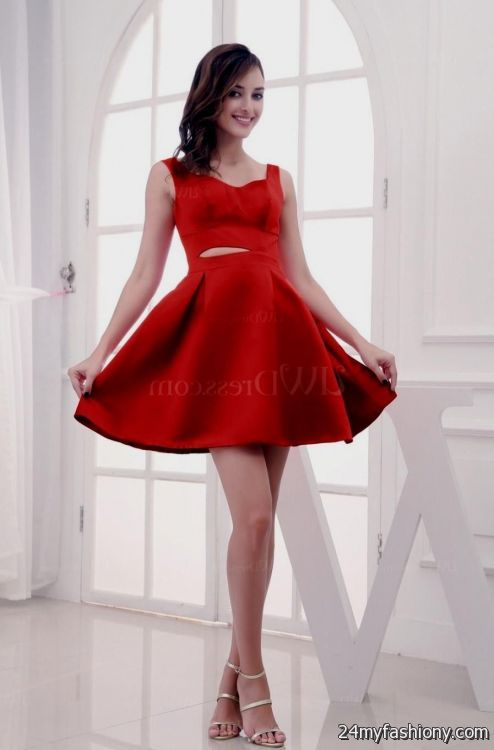 red short prom dresses with straps 2016-2017 » B2B Fashion
