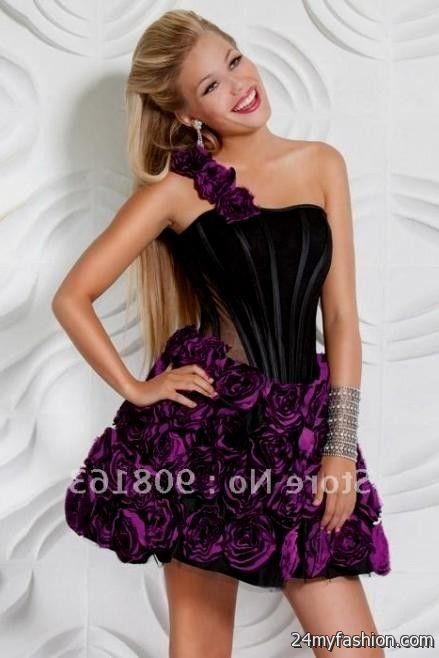 black and purple prom dress short 2016-2017 » B2B Fashion