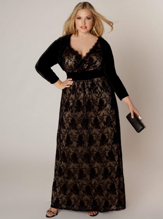 black and white lace plus size dress 2016-2017 » B2B Fashion
