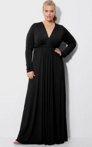 black long sleeve dress plus size 2016-2017 » B2B Fashion