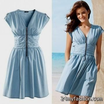light blue summer dress with sleeves 2016-2017 » B2B Fashion