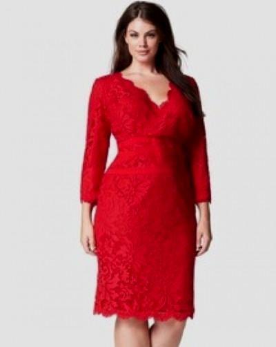 plus size red lace cocktail dress 2016-2017 » B2B Fashion
