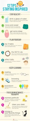 [INFOGRAPHIC] 12 Tips On Staying Inspired - An Infographic from 24Slides Blog