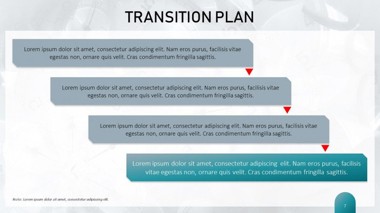 Pmf project management framework table 2 : Transition Plan Template Free Powerpoint Template