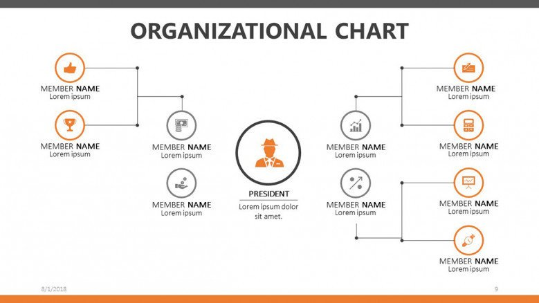 How to create an organizational chart in google docs? Organizational Chart Free Powerpoint Template