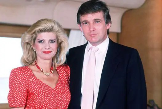 Дональд Трамп с первой женой