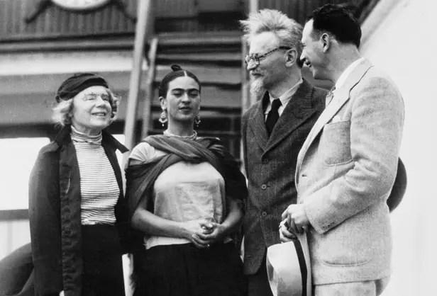 Лев Троцкий с женой