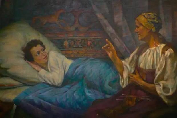 Александр Пушкин с няней