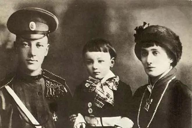 Анна Ахматова, Николай Гумилёв и сын Лев