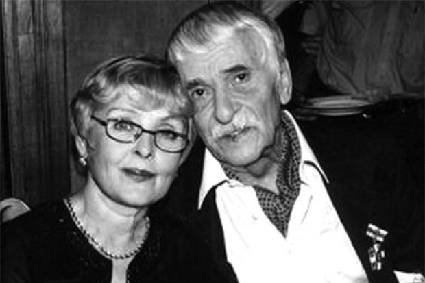 Ада Роговцева с мужем