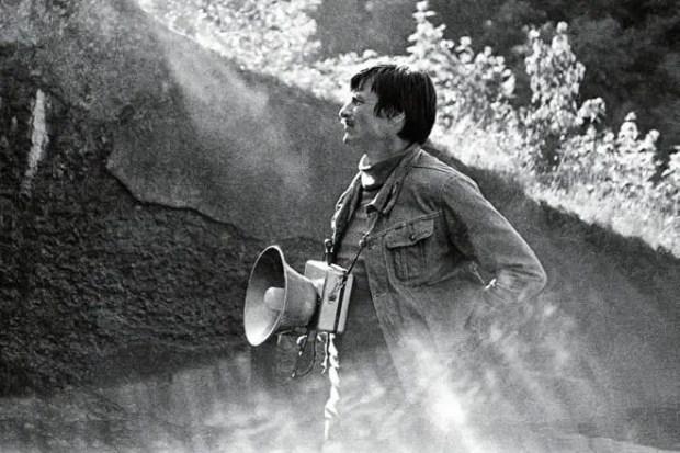 Андрей Тарковский на съемочной площадке