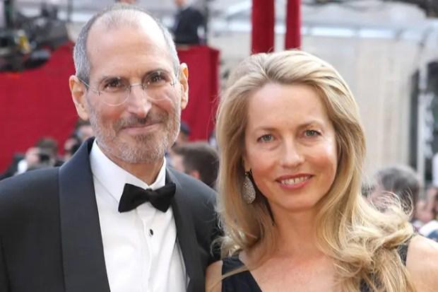 Стив Джобс и его жена Лорен Пауэлл