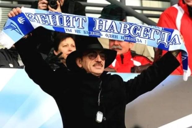 Михаил Боярский на матче ФК «Зенит»