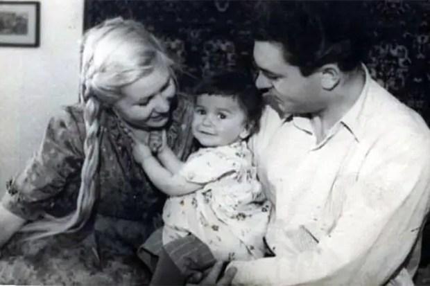 Сергей Бондарчук и Инна Макарова с дочерью Натальей