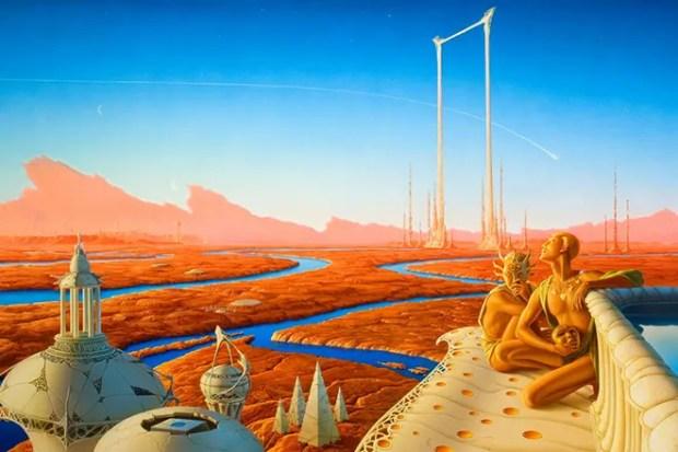 Иллюстрация к роману Рэя Брэдбери «Марсианские Хроники»