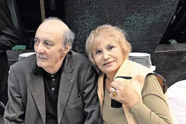 Георгий Данелия с женой Галиной Юрковой