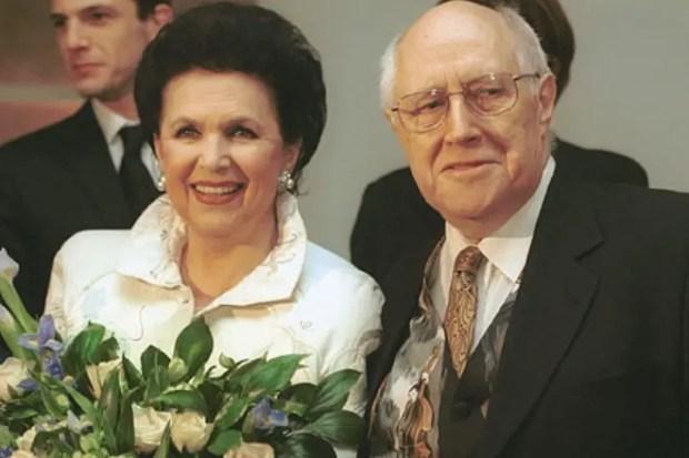 Галина Вишневская с мужем