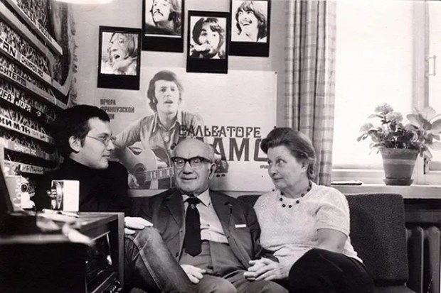 Игорь Ильинский с семьей