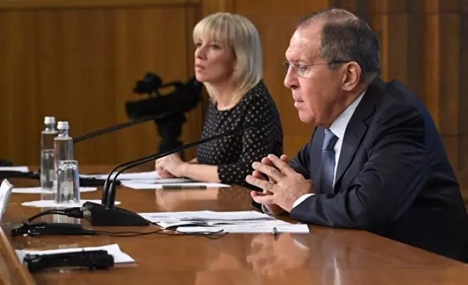 Мария Захарова и Сергей Лавров