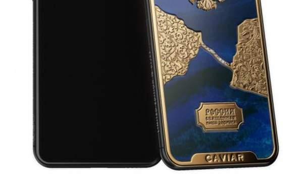 Россияне нарисовали Крымский мост из бриллиантов на iPhone X