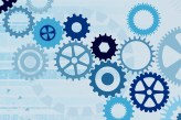 Various Cogs on a Blue Tinted Grunge Background - Vector File SS 2242048 SS 3430500 jpg IS 2514948