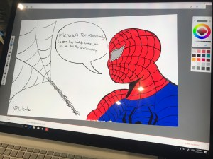Surface Studio drawing art spiderman Tech Community