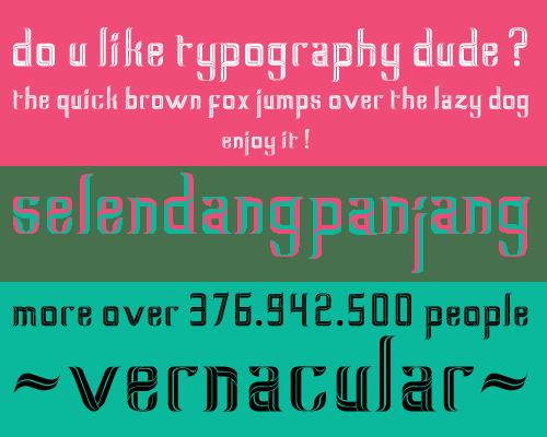 Seselendangan 15 nuevas tipografías gratis
