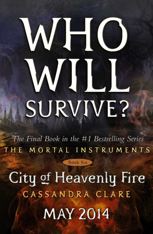 Today seems a good day to reveal the placeholder cover for City of Heavenly Fire! This isnot the final cover, but since you'll be seeing it all over, on amazon etc. until they reveal the final, might as well see it here first. I did not come up with the tagline, but I like it.The final cover will of course not have words on it, but people. I cannot tell you which people. You will have to wait for the reveal. There is also an extra surprise printed on the inside cover! *dances*Also I have discovered the tumblr of the most patient people ever.http://iscityofheavenlyfireoutyet.tumblr.com/
