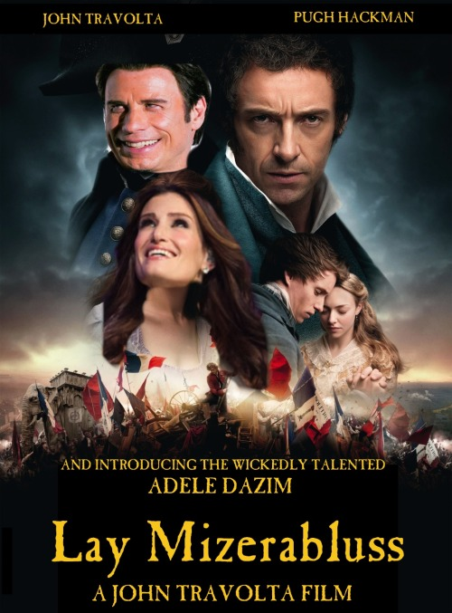 So, I just made this after remembering Travolta failing at the name Les Miserables last year. I couldn't resist.