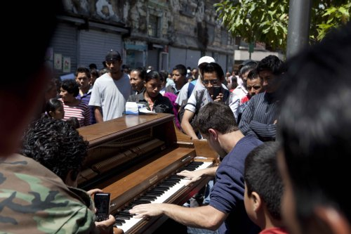 Mr. Negrin playing in Guatemala City