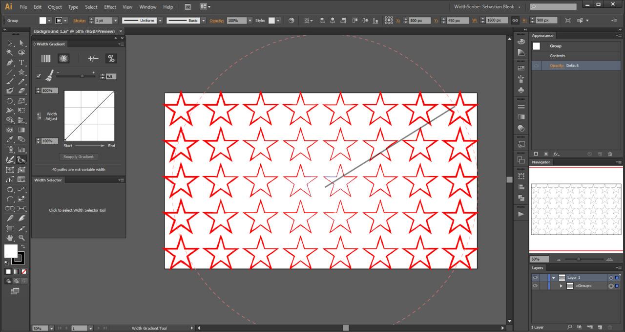 WidthScribe in Adobe Illustrator