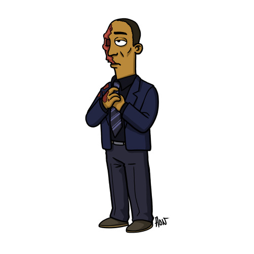 "Gus Fring from ""Breaking Bad"" (Dead version) / Simpsonized by ADN"