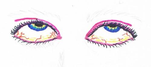 Bild zweier Augen