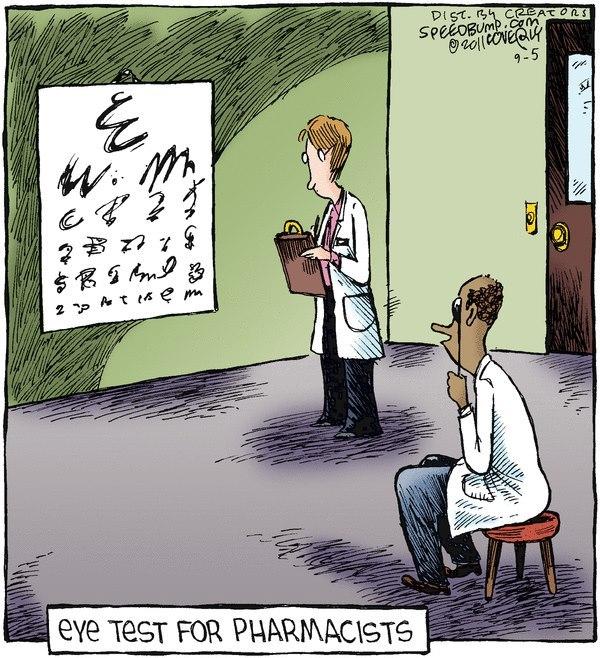 Augentest für Apotheker