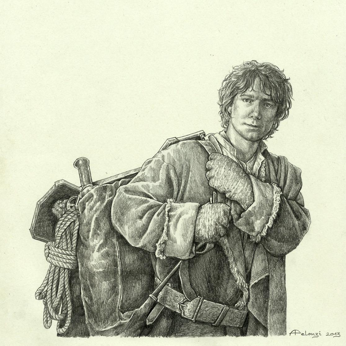 Dibujo de Bilbo Bolson por Alessia Pelonzi