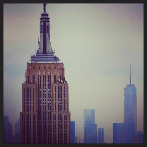 so cloudy, still #beautiful: the #empirestatebuilding. Submitted by David Hanjani. #thisiswhyiloveny #nyc #nyskyline #love